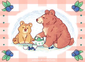 Bluebeary Tea by Paleona