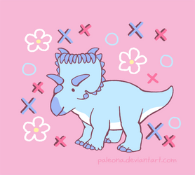Kind Kosmoceratops by Paleona