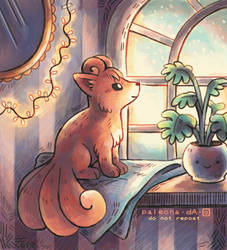 Vulpix at home