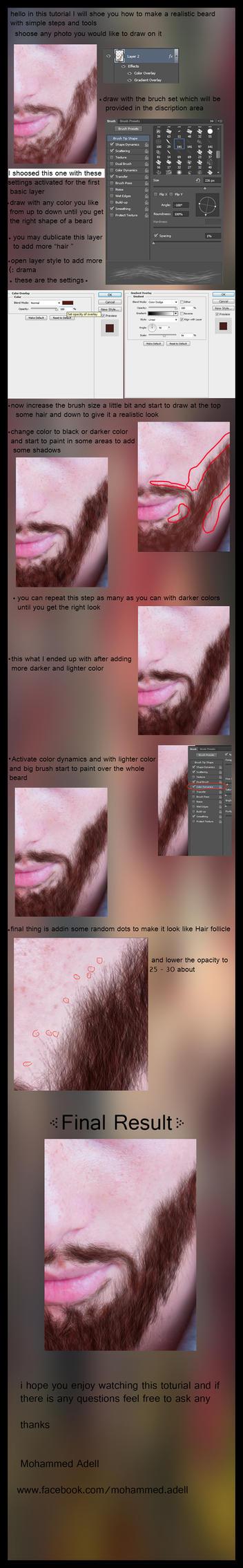 how to make a realistic beard by nakorabi