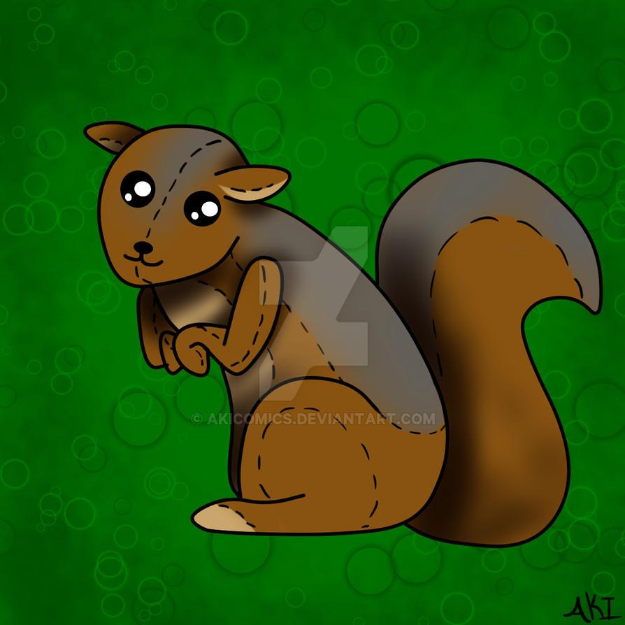 Squirrel by AkiComics