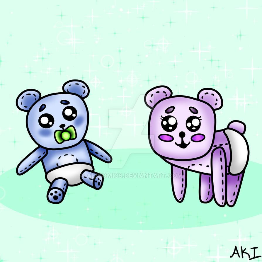 Baby Boo And Teady by AkiComics