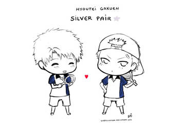 Hyoutei's Silver Pair by Ludiellusion