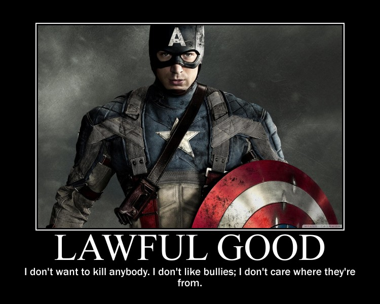 Lawful Good Captain America by 4thehorde