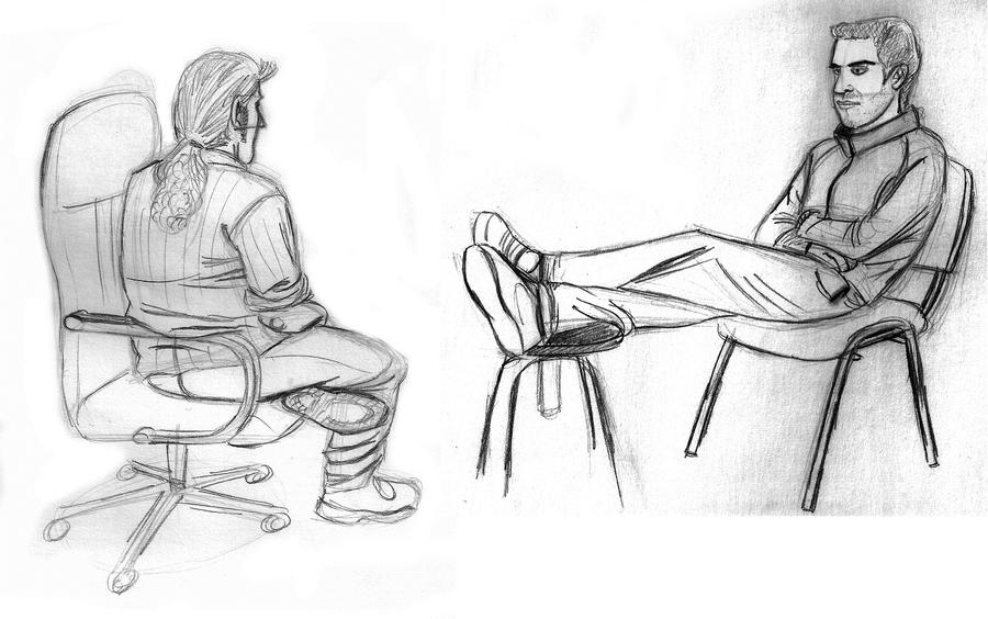 People Sitting On Chairs By XAndyLG On DeviantArt