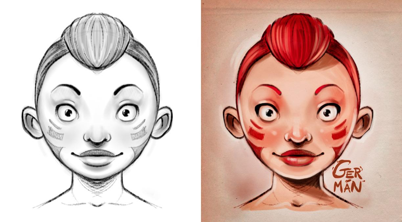 Face Sketch by gerbenher
