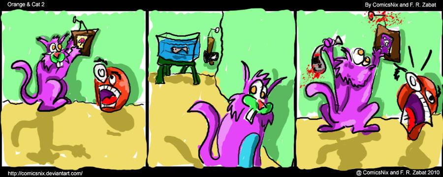 Webcomic Orange and Cat 2 by ComicsNix