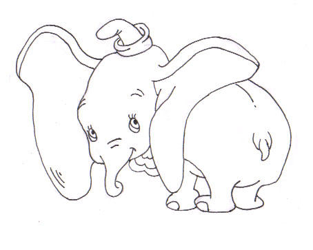Dumbo Drawing Dumbo Drawing In...454