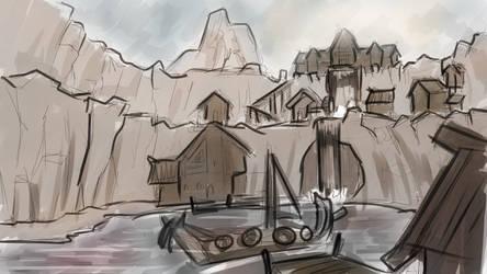 Viking village concept art #1