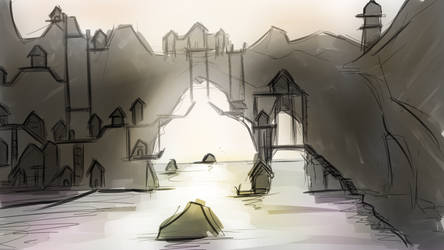 Viking village concept art #2