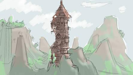Viking village concept art #3