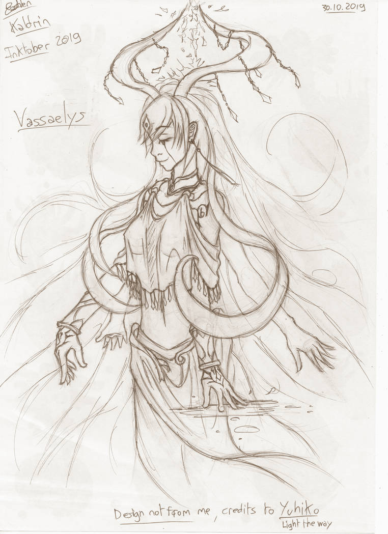 Vassaelys, the goddess of happiness - Inktober #19