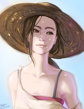 Sunshine in her eyes