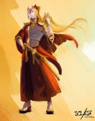 Amaterasu - Sclash character illustration by Kaldrinn
