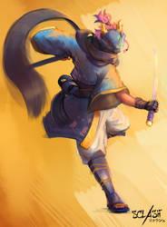 Jinmu - Sclash character art by Kaldrinn
