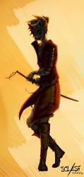 Masked samurai - Sclash character illustration by Kaldrinn
