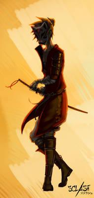Masked samurai - Sclash character illustration