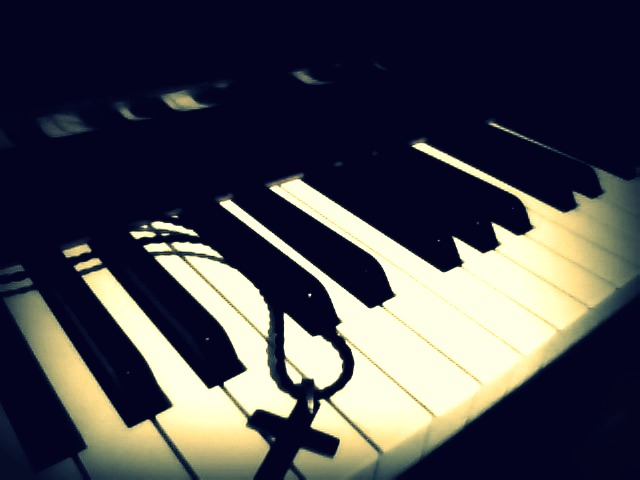 My Beautiful Piano And Cross Necklace By Haywireskater