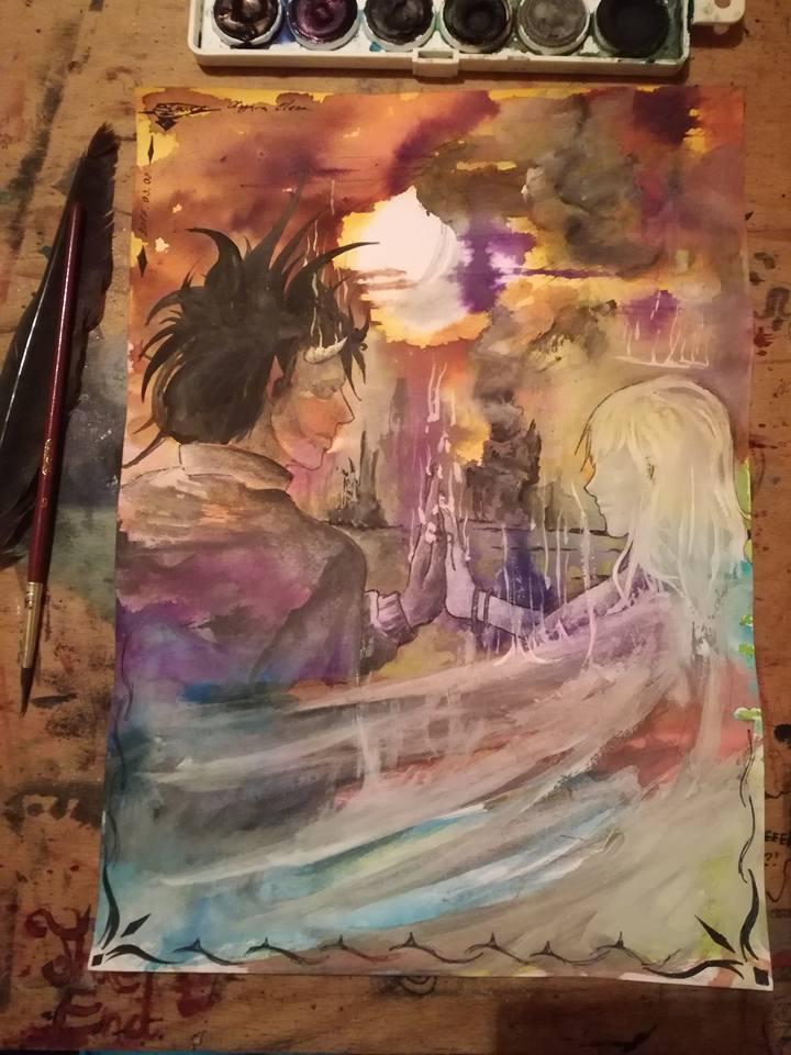Damon and the Angel by ElenaChiyan