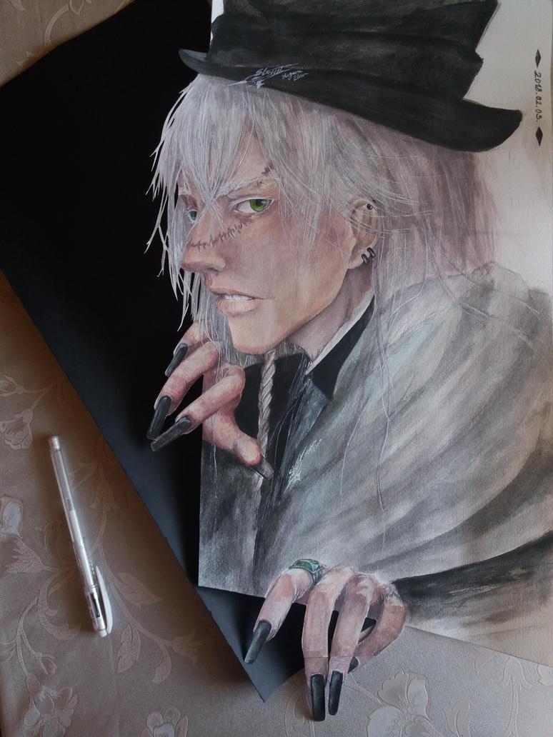 Kuroshitsui - Undertaker by ElenaChiyan