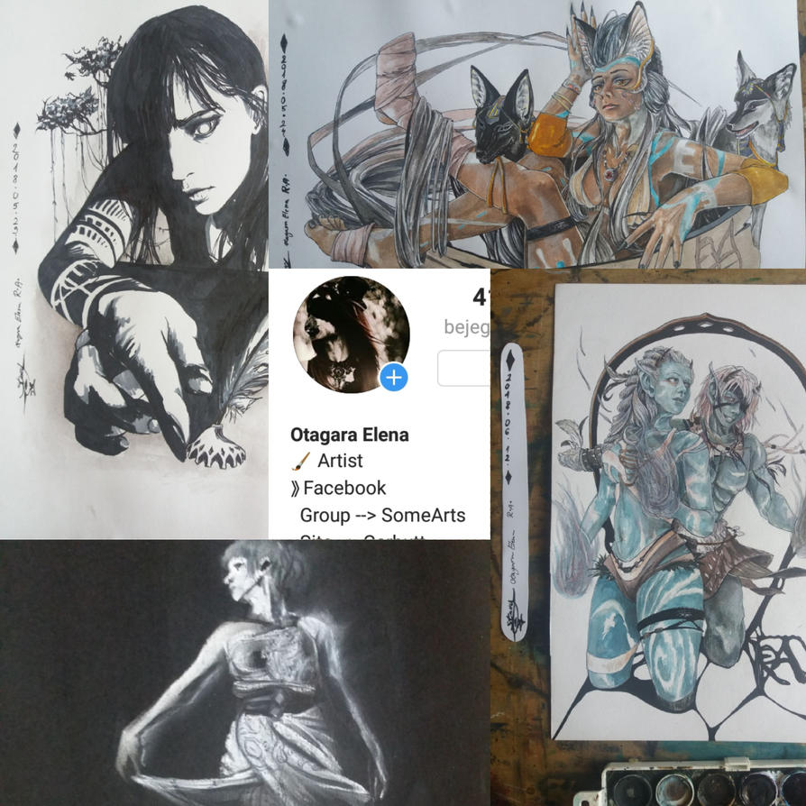 Collage of my draws by ElenaChiyan