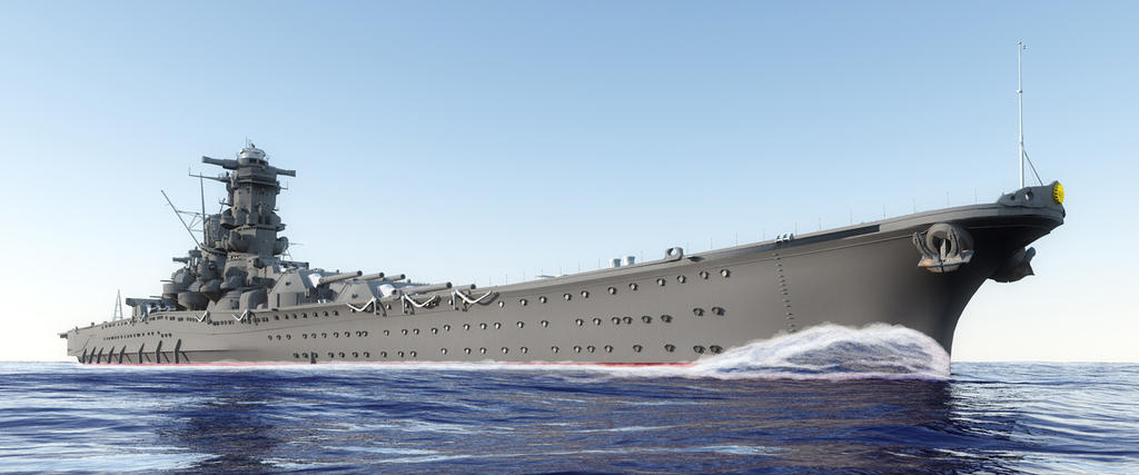 Battleship yamato by rockheimer on deviantart for Iowa largest craft show