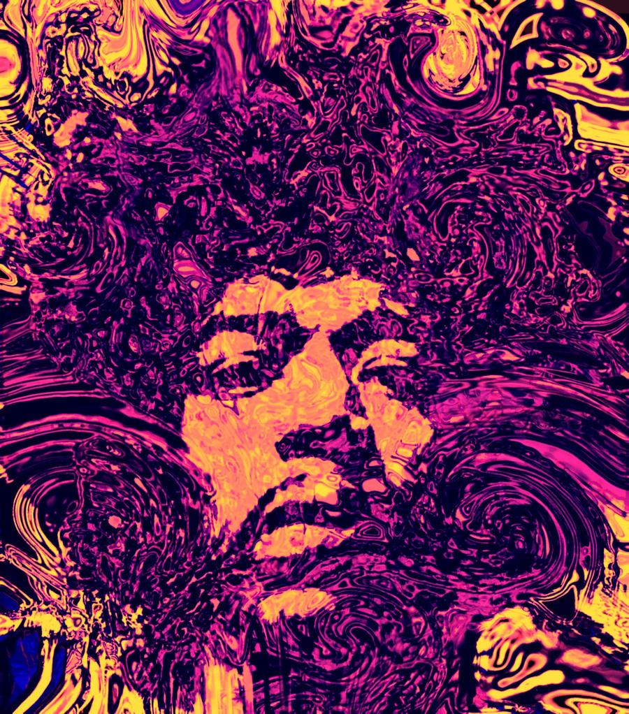 Purple hendrix by tzakol on deviantart - Jimi hendrix wallpaper psychedelic ...