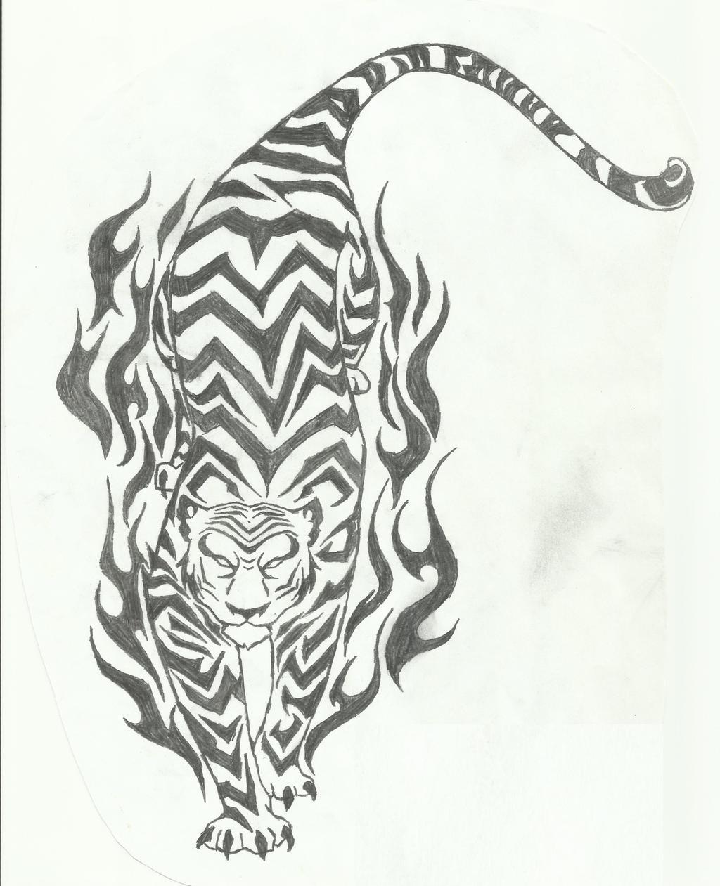 Tribal Tiger By Ruttan On Deviantart: Tribal Tiger By YukiSnowDevil On DeviantART