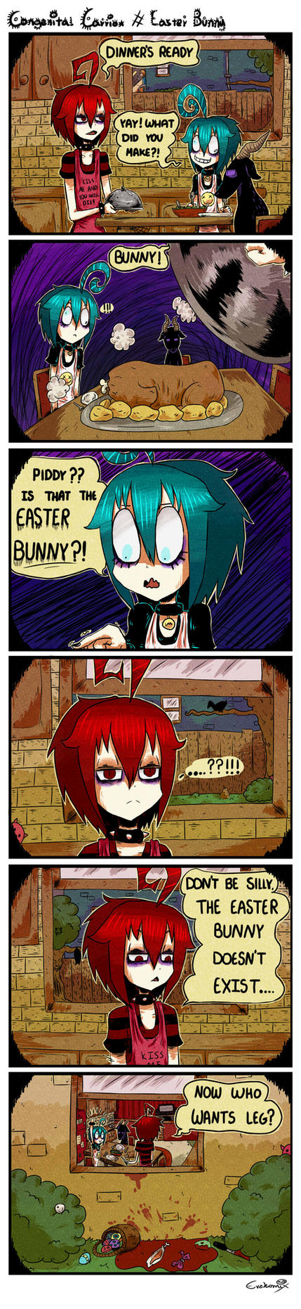 Congenital Carrion #  Easter Bunny by evekomix