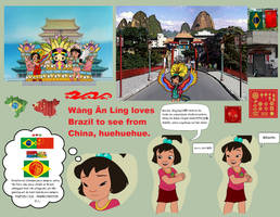 Ai Ling dreaming as in a Brazil-China Land by Kottylingual
