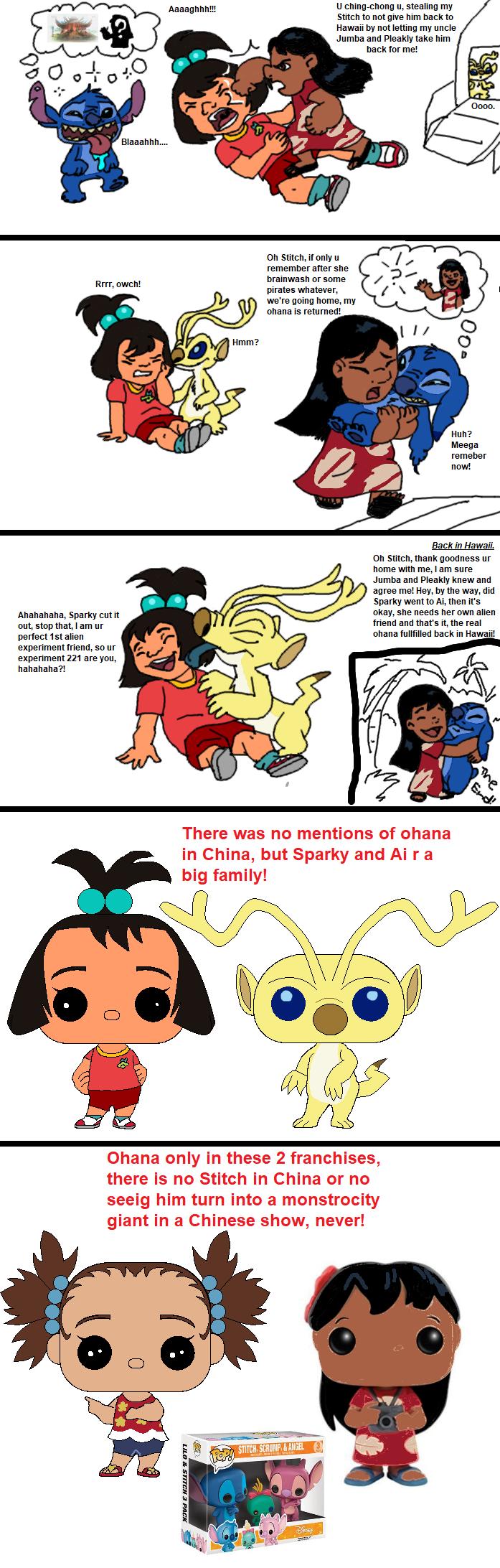 Stitch comes back to Lilo finally by Kottylingual