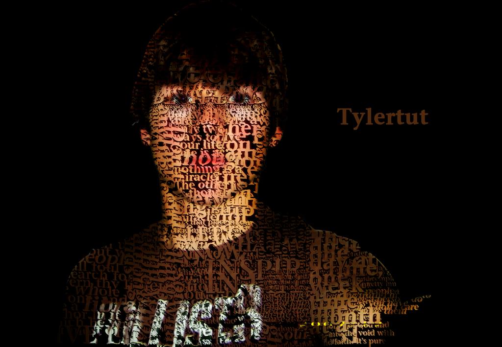 typography self portrait by tylertut on deviantart