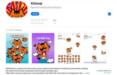 I M PAW Kiki's 1st Sticker Pack Kikimoji