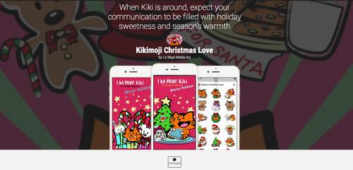 Kikimoji Christmas Love 5th Sticker Pack IOS App