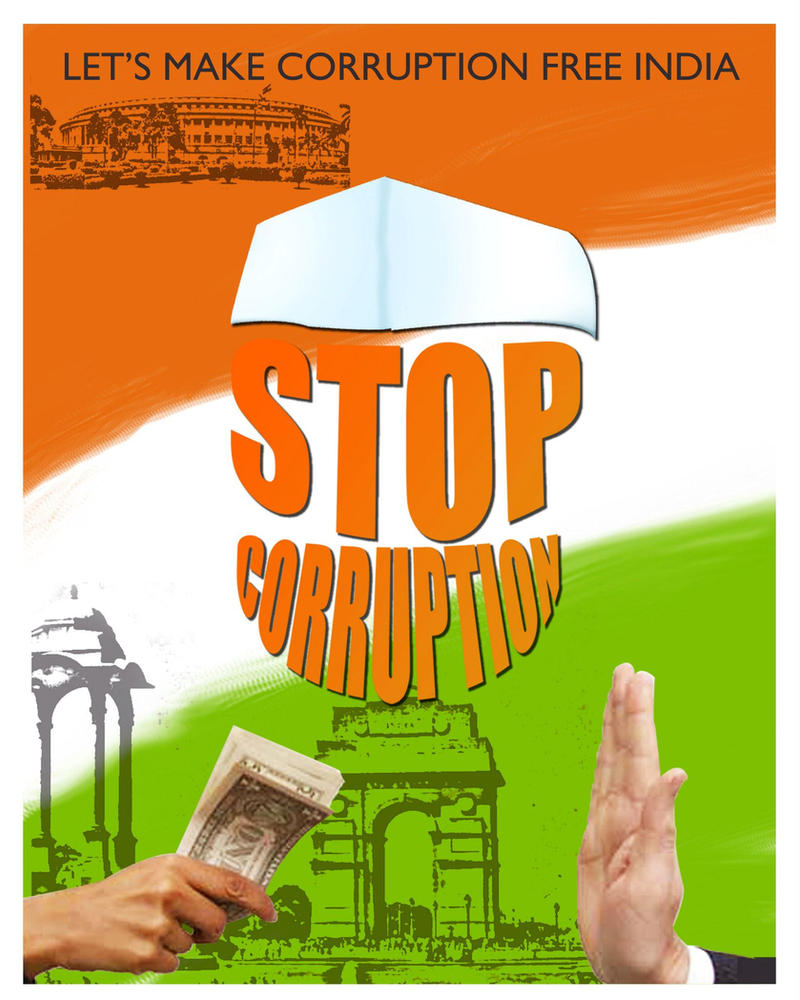 Stop corruption poster by abhikreationz on DeviantArt