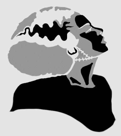 Bride of frankenstein stencil by undeadprincess on deviantart for Frankenstein pumpkin templates