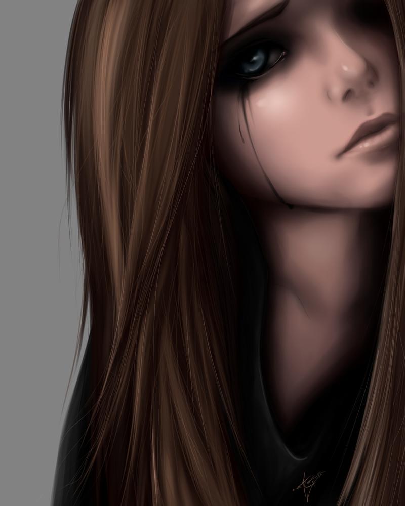 Sad girl by ZackArgunov on DeviantArt