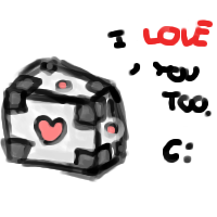 COMPANIONY - MY PET COMPANION CUBE by frootza