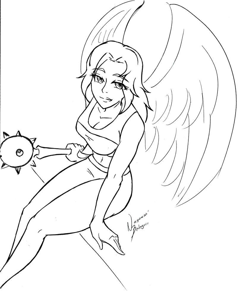 Hawkgirl Lineart By NayaaseBeleguii On DeviantArt