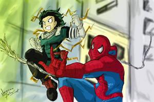 Spiderman And Deku by NayaaseBeleguii