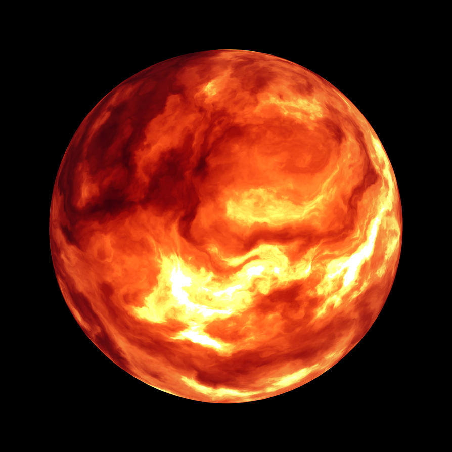 Firey planet stock by Tsnn