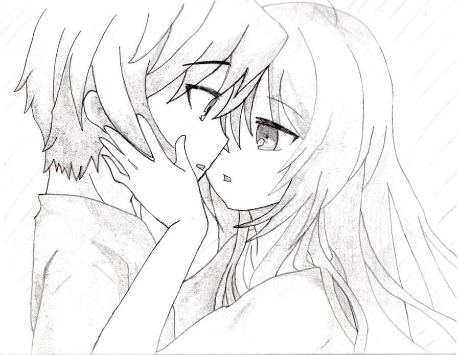 Anime Couple Sketch By Thejungleboy On DeviantArt