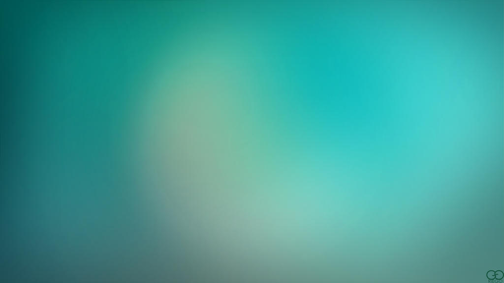 Blurry Cool Blue-Green Wallpaper by darkchronix95