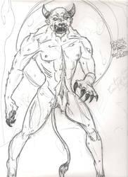 Werewolf mts Minotaur. Hybrid. by MsTwennyFaahve