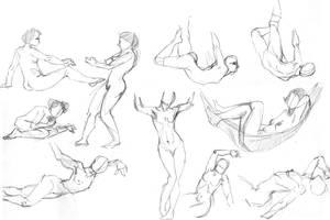 Women's poses by Fridgeletters