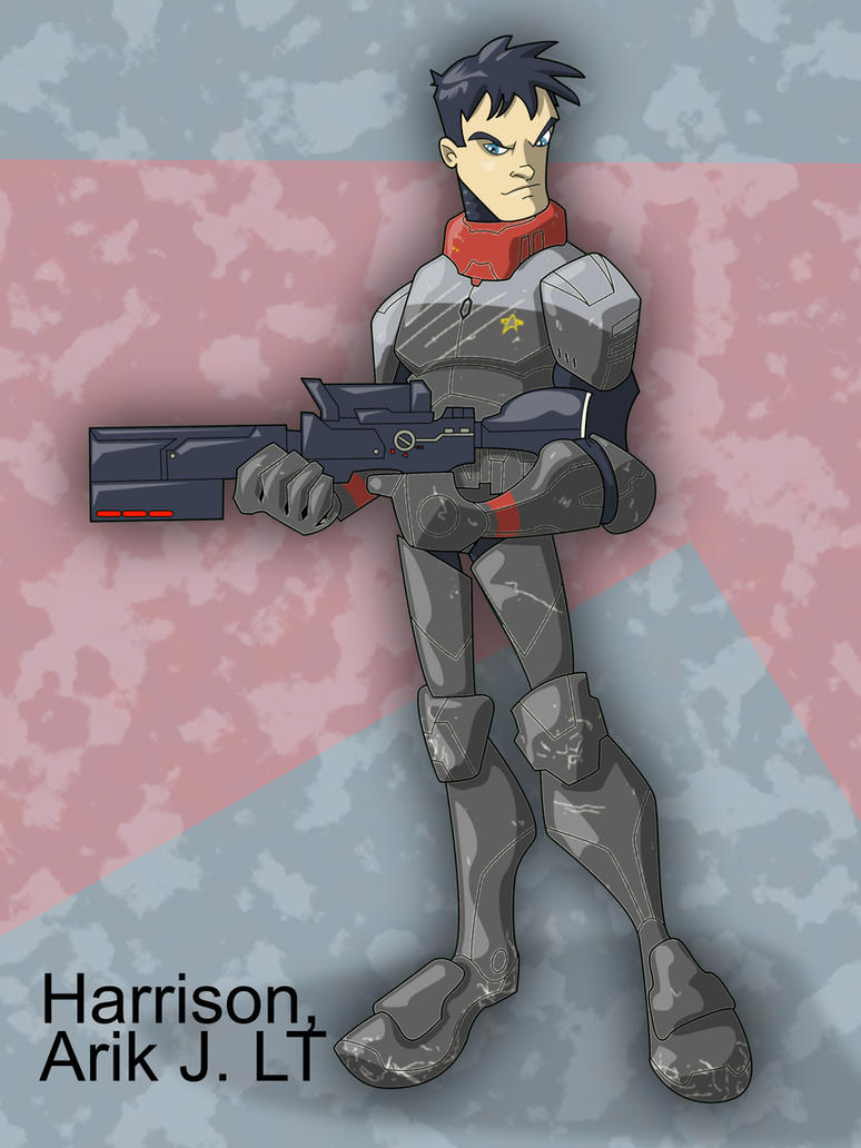 LT Harrison in Armor. by the-batcomputer