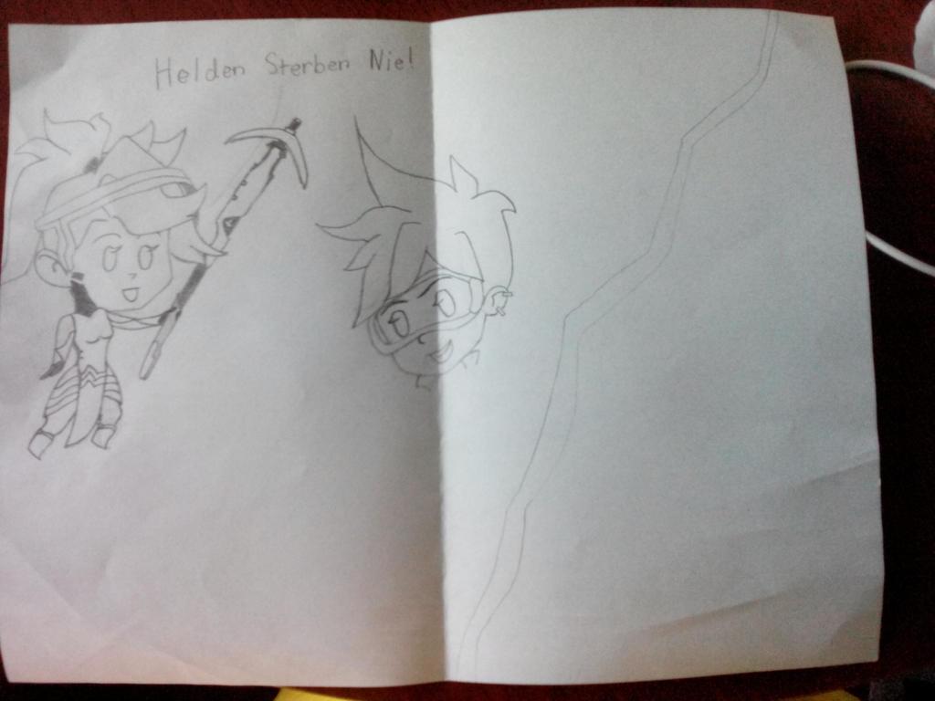 Overwatch Drawing Progress  by mysterygir987