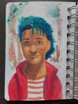 Portrait painting - acrylic