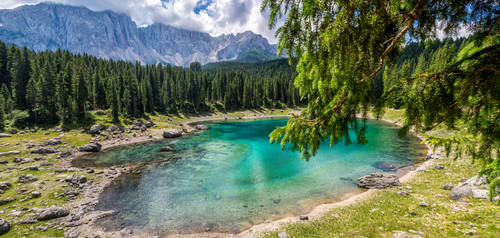 A magic Lake - Lago di Carezza, Dolomites, Italy