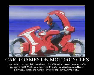 Cardgames on Motorcycles by grimmjack